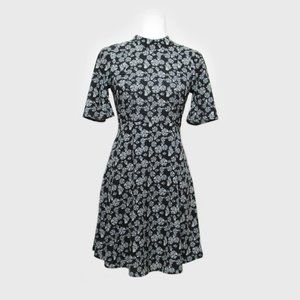 H&M Black/White Dandelion Print Dress